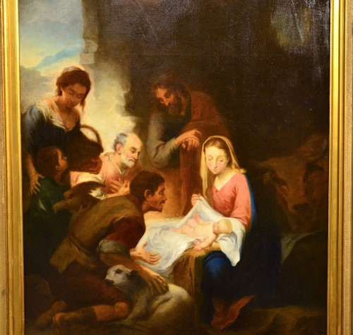 Antiquités - Nativity, Entourage Esteban Murillo