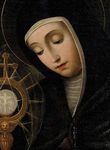 Scipion Pulzone, called Il Gaetano (1544 - 1598) - Portrait of Santa Chiara -