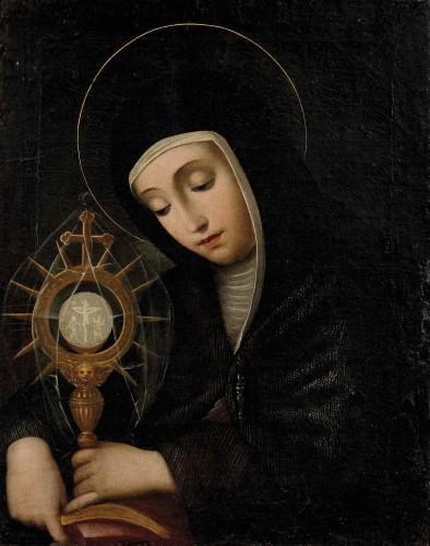 16th century - Scipion Pulzone, called Il Gaetano (1544 - 1598) - Portrait of Santa Chiara