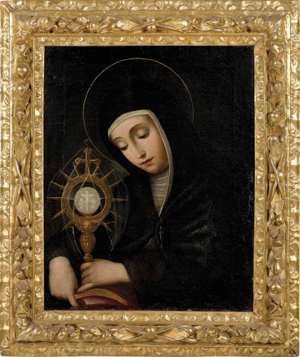 Scipion Pulzone, called Il Gaetano (1544 - 1598) - Portrait of Santa Chiara - Renaissance