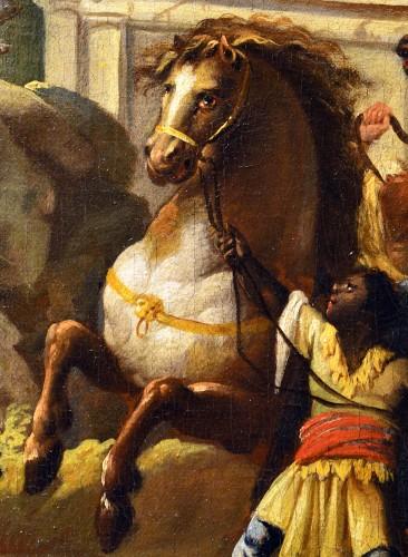 - Alexander the Great at Achilles' Tomb - Johann Heinrich Schönfeld