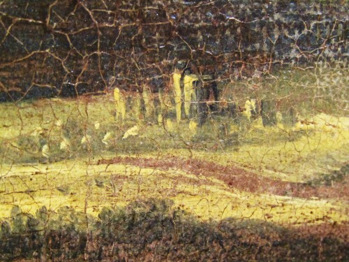 Antiquités - Wooded landscape with wayfarers and village in the distance - Jan Looten (1618-1681)