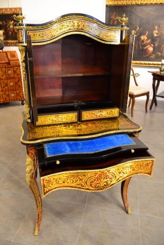 "Furniture  - Bonheur de jour Napoléon III, ""Boulle"" style inlay"