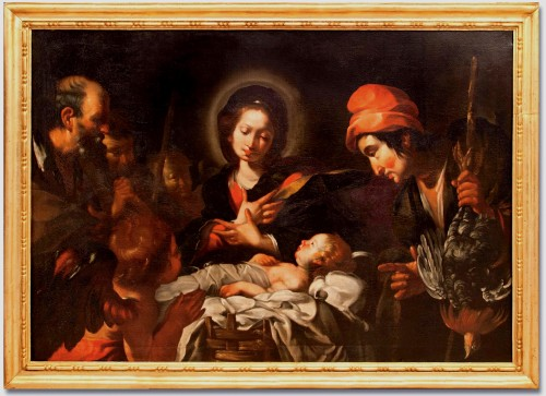 Bernardo Strozzi (Genoa 1581 - Venice 1644) and workshop - The Nativity