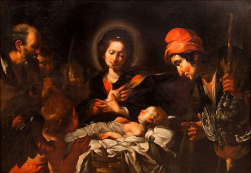Bernardo Strozzi (Genoa 1581 - Venice 1644) and workshop - The Nativity - Paintings & Drawings Style