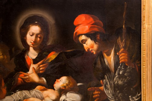 17th century - Bernardo Strozzi (Genoa 1581 - Venice 1644) and workshop - The Nativity