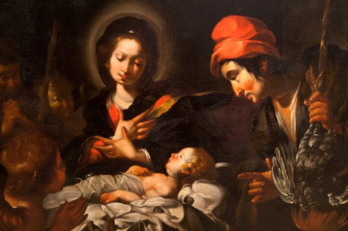 Antiquités - Bernardo Strozzi (Genoa 1581 - Venice 1644) and workshop - The Nativity