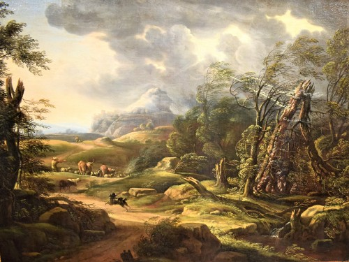 Paintings & Drawings  - Carlo Antonio Tavella (1668 -1738) - Animated landscape