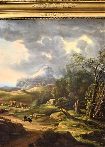 Carlo Antonio Tavella (1668 -1738) - Animated landscape - Paintings & Drawings Style
