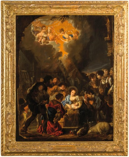 Abraham Danielsz Hondius - Nativity with adoration of the shepherds