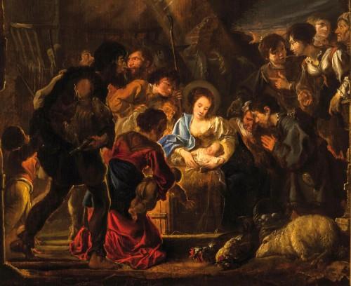 - Abraham Danielsz Hondius - Nativity with adoration of the shepherds