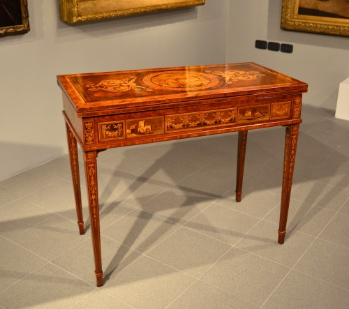 Louis XVI game table - Workshop of Giuseppe Maggiolini - Furniture Style Louis XVI