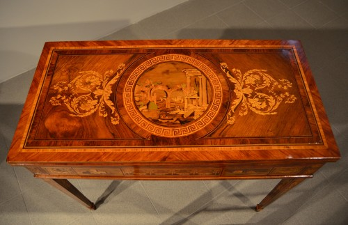 Furniture  - Louis XVI game table - Workshop of Giuseppe Maggiolini