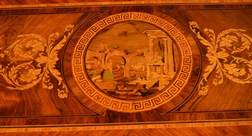 Louis XVI game table - Workshop of Giuseppe Maggiolini -