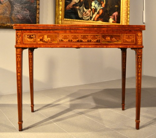 Louis XVI game table - Workshop of Giuseppe Maggiolini - Louis XVI