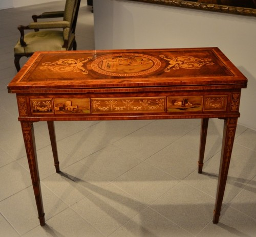 Louis XVI - Louis XVI game table - Workshop of Giuseppe Maggiolini