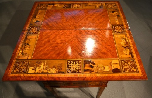 Antiquités - Louis XVI game table - Workshop of Giuseppe Maggiolini