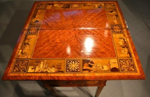 Antiquités - Louis XVI game table - Workshop of Giuseppe Maggiolini
