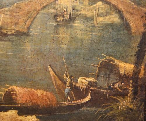 Antiquités - Pair  of Capricci with ruins and figures - Francesco Guardi atelier