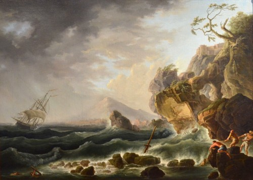 Louis XVI - Coast In The Storm And Shipwreck - Claude Joseph Vernet's Workshop