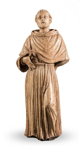 Carved Wood Sculpture, Seventeenth Century - San Francesco
