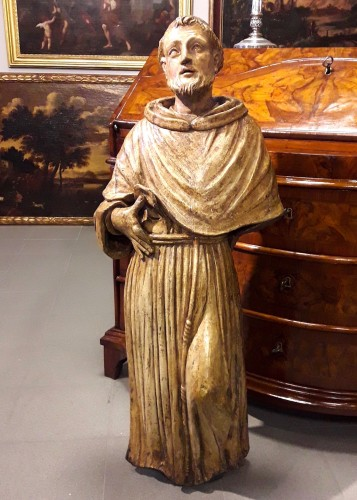 Sculpture  - Carved Wood Sculpture, Seventeenth Century - San Francesco