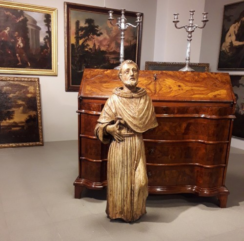 Carved Wood Sculpture, Seventeenth Century - San Francesco -