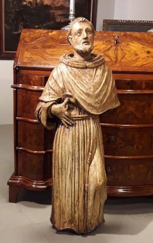17th century - Carved Wood Sculpture, Seventeenth Century - San Francesco