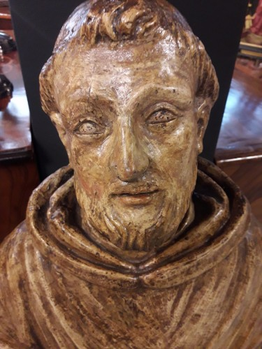 Carved Wood Sculpture, Seventeenth Century - San Francesco - Louis XIII