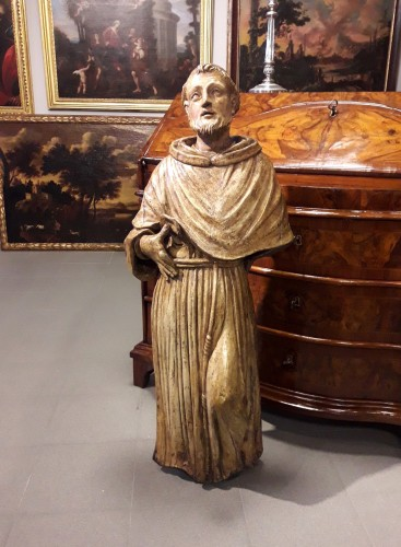 Louis XIII - Carved Wood Sculpture, Seventeenth Century - San Francesco