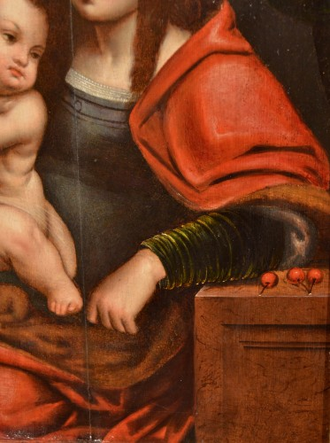 16th century - Madonna of Cherries - Circle of Joos van Cleve (1485 - 1540)