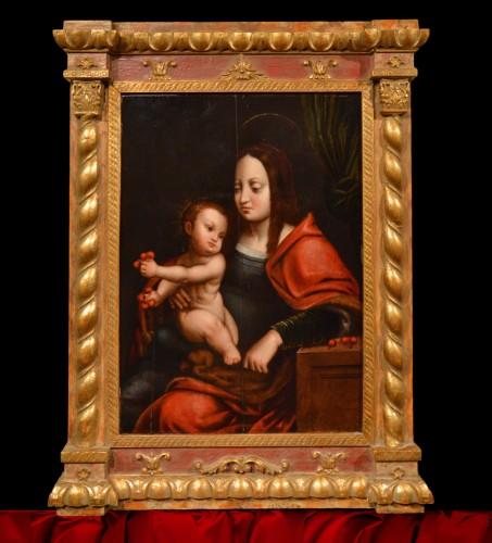 Renaissance - Madonna of Cherries - Circle of Joos van Cleve (1485 - 1540)