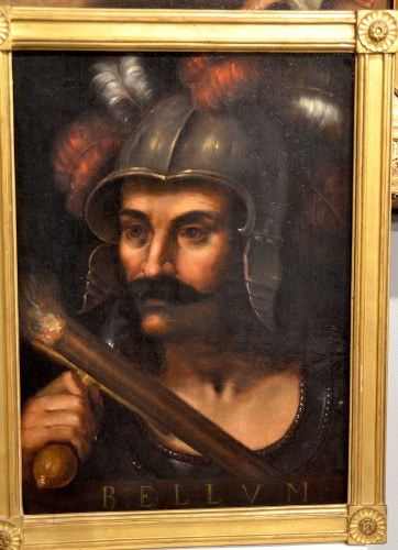 Portrait of the god of war Mars - Flemish school of the 17th century -