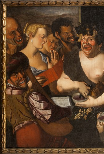 Niccolò Frangipane (around 1545 - after 1597) - Feast of Bacchus - Paintings & Drawings Style Renaissance