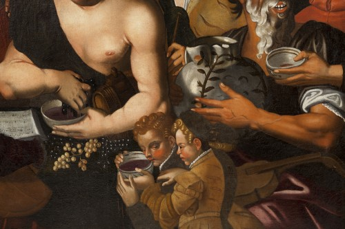 Niccolò Frangipane (around 1545 - after 1597) - Feast of Bacchus -