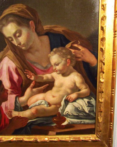 Madonna with the child and the little St. John - Francesco de Mura - Paintings & Drawings Style