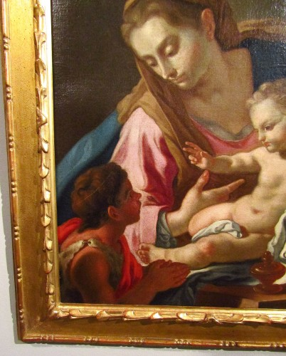 Paintings & Drawings  - Madonna with the child and the little St. John - Francesco de Mura