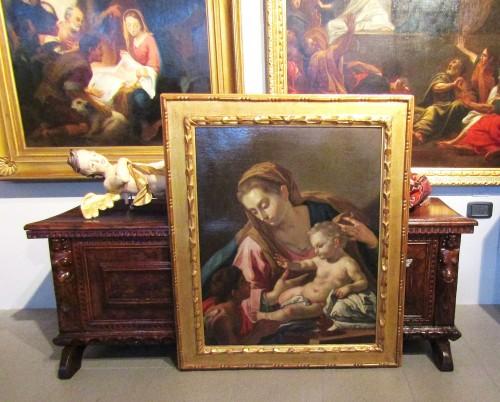 Antiquités - Madonna with the child and the little St. John - Francesco de Mura