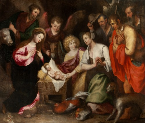 Nativity with Adoration of the Shepherds - Workshop of Gaspar de Crayer