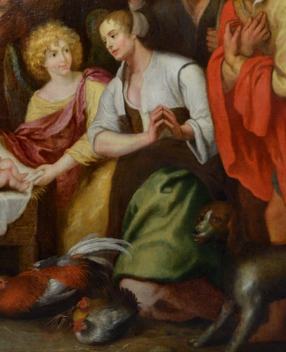 Nativity with Adoration of the Shepherds - Workshop of Gaspar de Crayer - Louis XIII