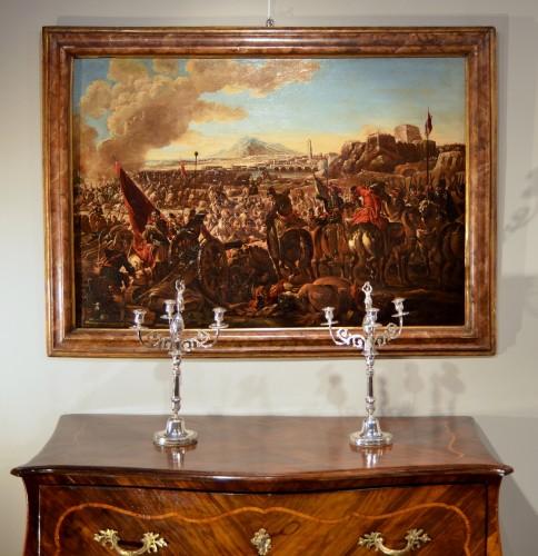 Battle scene - Ilario Mercanti dit 'Spolverini' (1657-1734) -