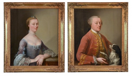 Charles-amédée Van Loo (1719 - 1795) Signed, Pair Of Portraits