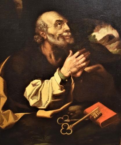 """""""St. Peter"""" ècole Italienne debut du XVIIe siècle"""