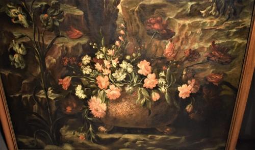 18th century - Grande Nature Morte de Fleurs