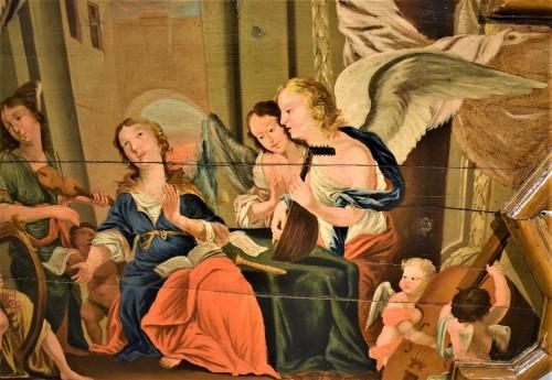 Sainte Cécile et le Concert des Anges école Venitienne du XVIIè - Paintings & Drawings Style Louis XIII
