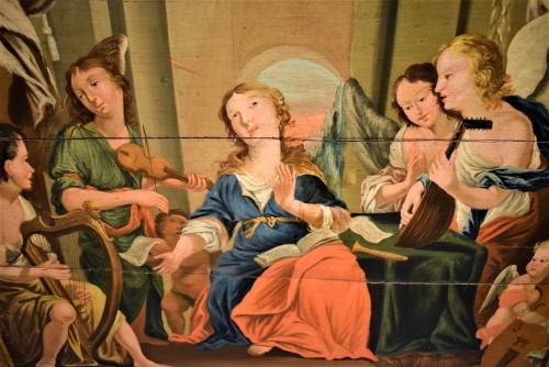 Paintings & Drawings  - Sainte Cécile et le Concert des Anges école Venitienne du XVIIè