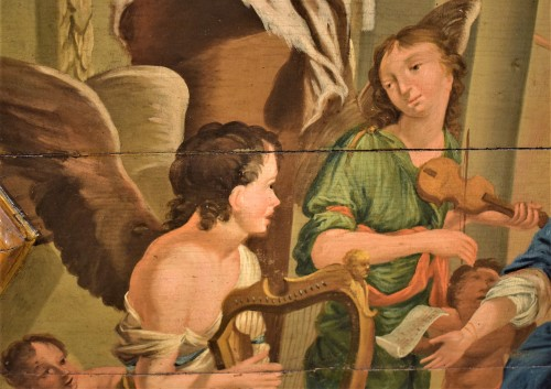 17th century - Sainte Cécile et le Concert des Anges école Venitienne du XVIIè