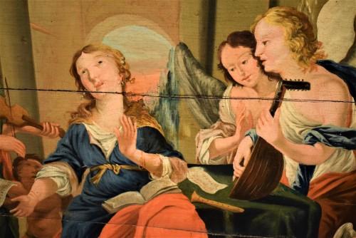 Sainte Cécile et le Concert des Anges école Venitienne du XVIIè - Louis XIII