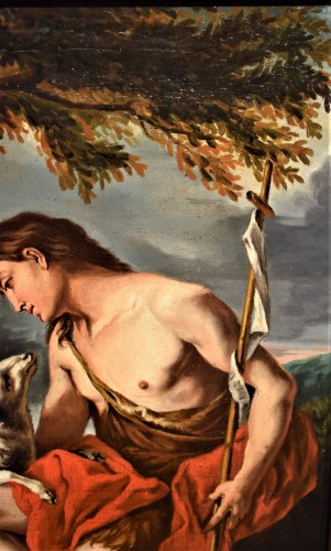 17th century - Saint John the Baptist in the Deer""