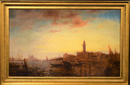 """Sunset in Venice on the Lagoon"" P.G. Lepinay (1842-1885)"